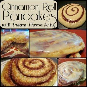 Cinnamon Roll Pancakes via elisebakes